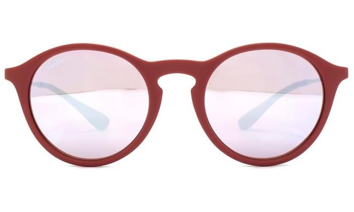 5a7876e57bc Ray-Ban Bordeaux Gunmetal Pink Silver Lenses Sunglasses RB4243-6264B5-49