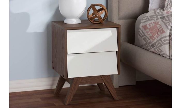 Hildon 2-Drawer Storage Nightstand ... & Hildon 2-Drawer Storage Nightstand | Groupon