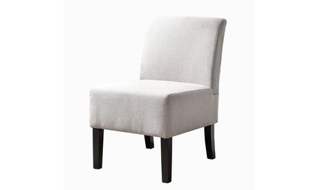Modern Upholstered Armless Slipper Chair with Full Back