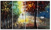 Handpainted Painting - Landscape Forest Colors of Nature - 48x28 in