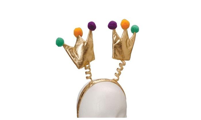 Mardi Gras Crown Head Boppers-EACH