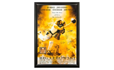 The Big Lebowski - Cast Signed Movie Poster 27x41 in Wood Frame 400d35c5-6646-428a-8218-41ba9b22a263