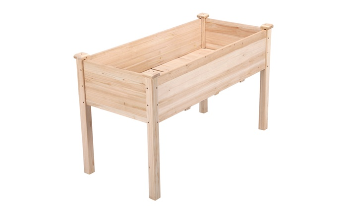 Up To 31% Off on Cedar Raised Elevated Garden ...   Groupon ... Raised Wooden Planter Kits on raised wooden beds, raised wooden walkways, raised hot tub, raised flower pots, raised rectangular planter, raised wooden decks, backyard planters, curved outdoor planters, raised wooden ponds,