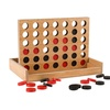 Four-in-a-Row Wooden Travel Board Game