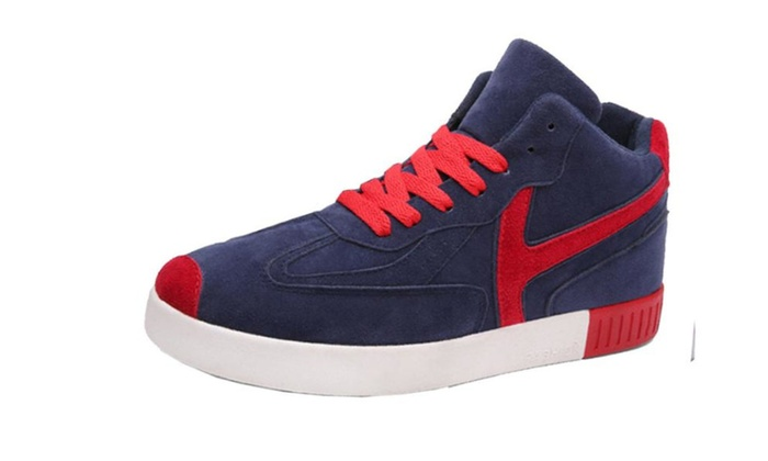 Men's Casual Round Toe PU Solid Sneakers