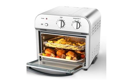 5-in-1 Convection Air Fryer Toaster Oven, 1500W Small Kitchen Appliance( 11QT) photo