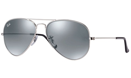 Ray-Ban Aviator Sunglasses (Silver/Silver Mirror) Was: $145 Now: $109.
