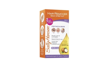 Sally Hansen Hair Remover Wax Strip Kit for Face, Brows & Bikini, 34 S dec9036e-f283-40a0-b0f4-847647fdf965
