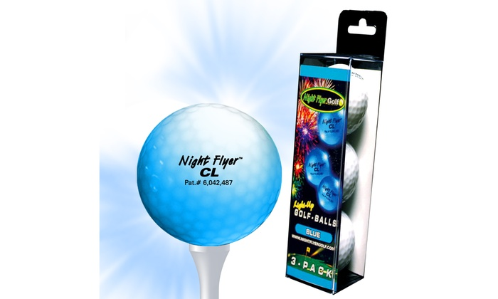 Up To 25 Off On 3 Pack Led Light Up Golf Ba Groupon Goods