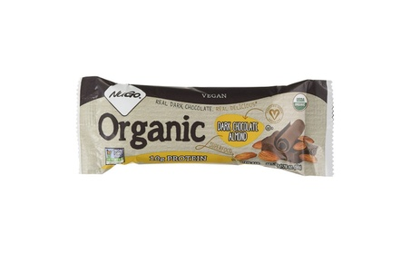 Nugo Nutrition 0333526 Organic Dark Chocolate Almond Bar 1.76 oz