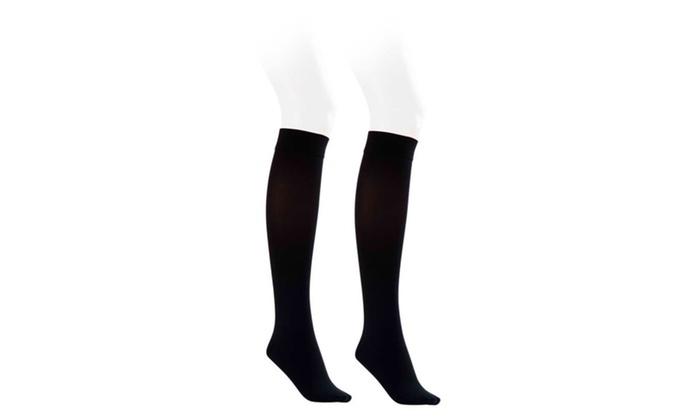 b490c214298 Jobst Opaque 15-20 mmHg Knee High Closed Petite Socks Classic Black ...