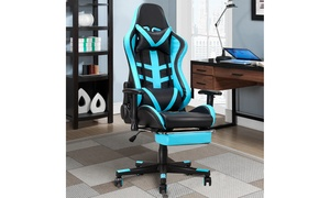 Costway Gaming Chair High Back Racing Recliner Office Chair  Footrest