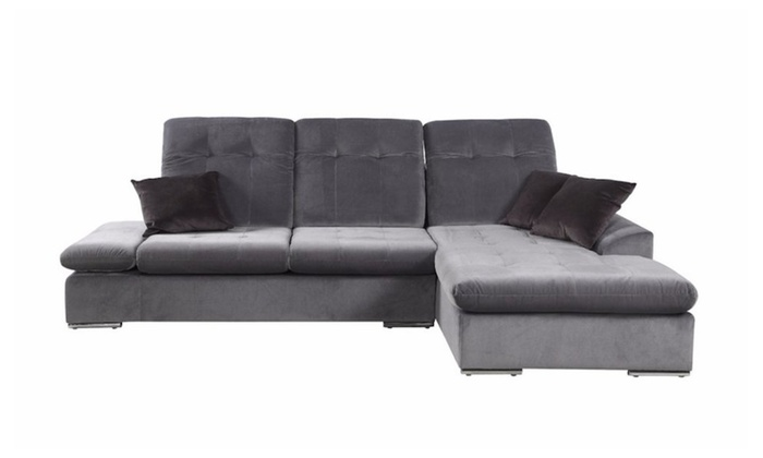 Merveilleux Concorde Microfiber Sectional Sofa With Chaise