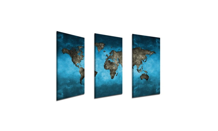 Frameless huge wall art oil painting on canvas world map home decor gumiabroncs Images