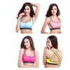 4 Pack Women's Seamless Padded Sports Bra Workout Yoga Bras