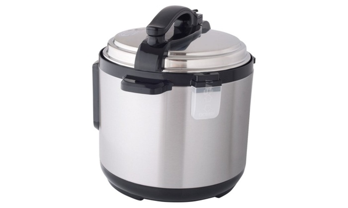 1250W 8 Quart Electric Pressure Cooker Programmable Multi Use Stainless Steel Silver