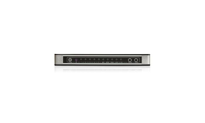 FosPower 5X1 Port HDMI 4K UHD 3D Selector Switch Switcher Hub Box Optical RCA