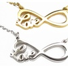 Silver or Gold Love Infinity Necklace