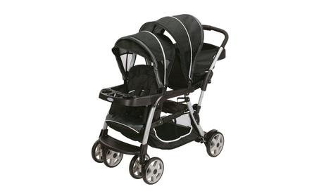 Graco Ready2Grow LX Stand & Ride Duo Double Baby Stroller - Gotham c8d2e1b0-3e95-4d89-ba07-43a46295a7f0