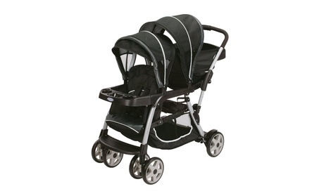 Graco Ready2Grow LX Stand & Ride Duo Double Baby Stroller - Gotham a02283a5-929c-4b23-8990-dc1d2f8e80d5