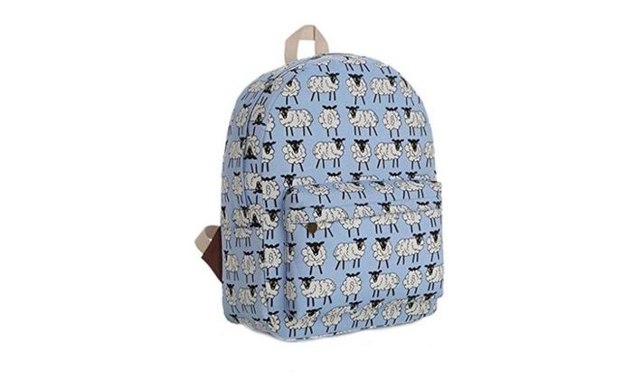Gumstyle Canvas Travel School Bag Backpack Rucksack Sheep