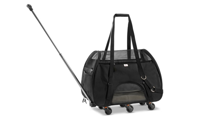 a8cacb50f WPS Airline Approved Removable Wheeled Pet Carrier for Small Pets ...