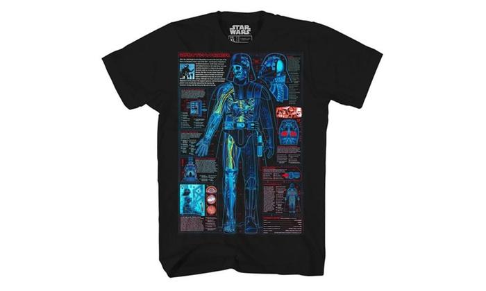 Darth Vader Schematic Blueprint Lightsaber T-shirt on