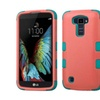 Insten Tuff Hard Hybrid Silicone Case For Lg K10 Pink/teal