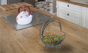 Clear Candy Bowl - Cookies, Candies, Mints for Office, Parties, Home Plastic Jar