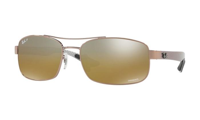 59f341b569592 Ray Ban Chromance RB8318-CH Brown Sunglasses