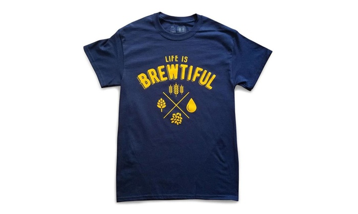 DDLE: 10oz Apparel Life is Brewtiful t-shirt Navy