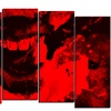 Speak Out Red Lips - Large Contemporary Canvas Art - 60x32 - 5 Panels