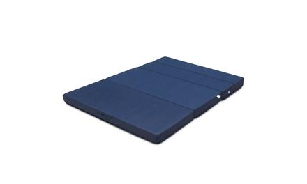 """Queen Size 4"""" Quart -Fold Foam Folding Mattress Futon Sleepover Sofa Bed Guest"""