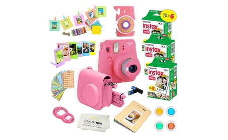 Fujifilm Instax Mini 9 (Flamingo Pink)+ 60 Pack Film + 15 PCS Kit f0982ea2-d3ea-4540-a7d8-5cdb4631ffab