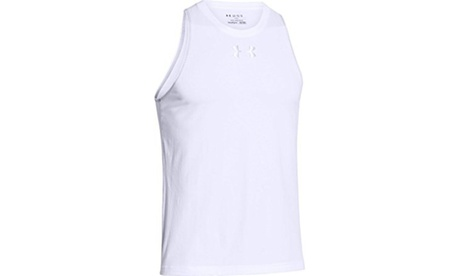 Under Armour Mens Charged Cotton Jus Sayin Too Tank - L - White/Steel d2f0416b-2370-4d93-ac46-fe86eef286d3