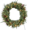 Santa's Workshop Seasonal Decor Highland Wreath Ul Preliterate Lights