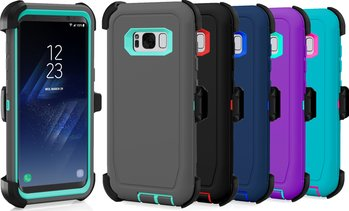 Samsung Galaxy S7 / Edge / S8 / Plus Protective Shockproof Defender Case w/ Clip