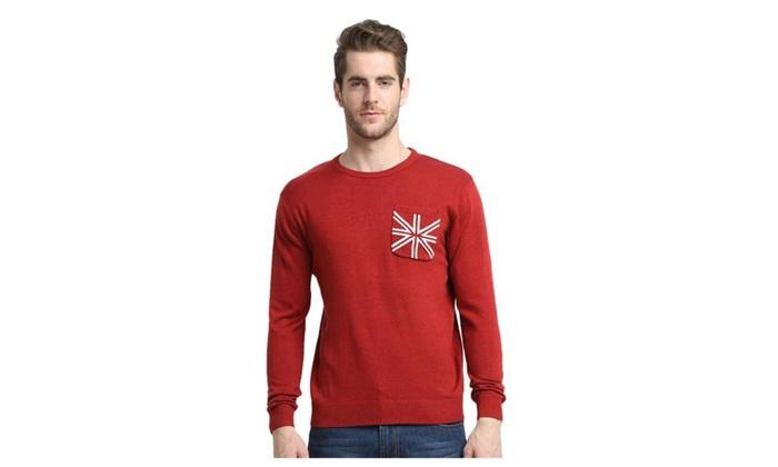 Men's Crewneck Pocket Pullover Sweater