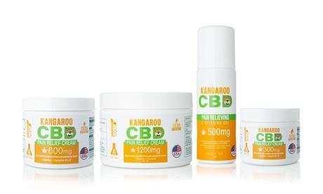 CBD Pain Relief Cream from Kangaroo CBD (300mg-1200mg)