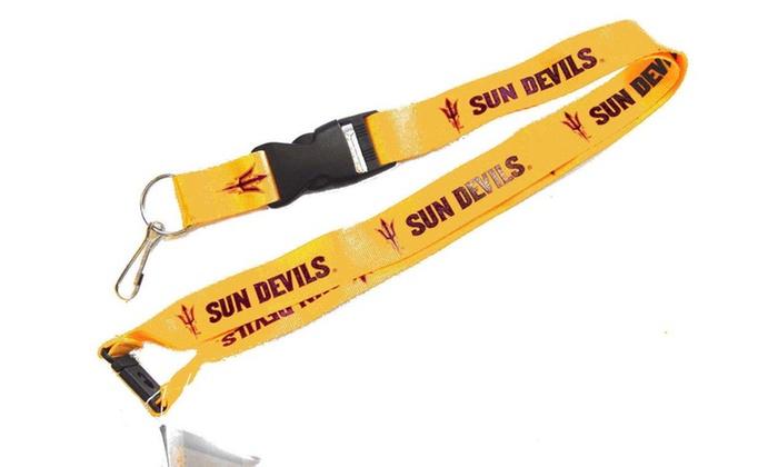 Asu Sun Devils Arizona Clip Lanyard Keychain Id Ticket