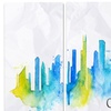 Chicago Blue Green Silhouette ? Cityscape Metal Wall Art