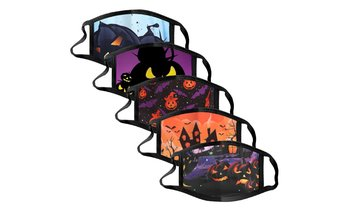Halloween Mixed Color Printing 5PC Anti-sputum Protective Mask