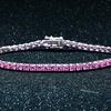 6.00 CTTW Pink Tourmaline Tennis Bracelet in 18K White Gold Plating