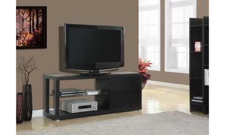 """TV Stand - 60""""L / Cappuccino With Tempered Glass 38a2cd13-7776-4e35-9c3b-f8d9d6111a1e"""