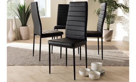 Armand Faux Leather Upholstered Dining Chair (Set of 4)