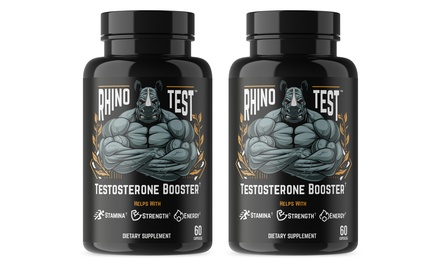 Buy One Get One Free: Rhino Test Extra Strengh Testosterone Booster (2-Pack)