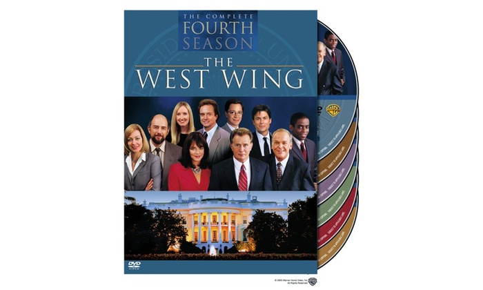west wing the complete fourth season dvd groupon. Black Bedroom Furniture Sets. Home Design Ideas