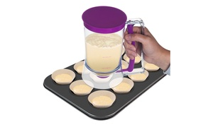 Chef Buddy No-Drip Pancake Batter Dispenser with Measuring Label