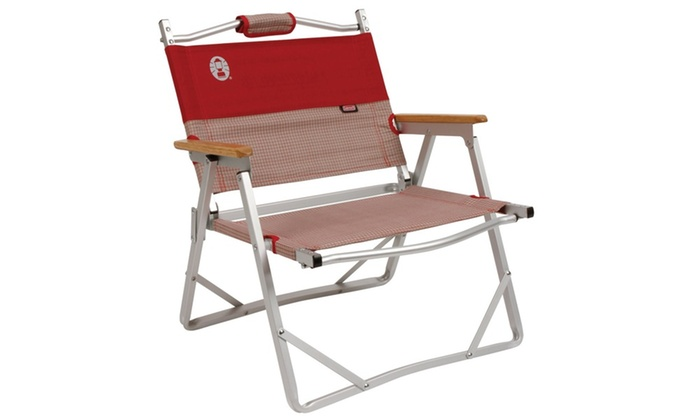 Coleman Comfort Lite Ideal Compact Folding Chair Red Hatch