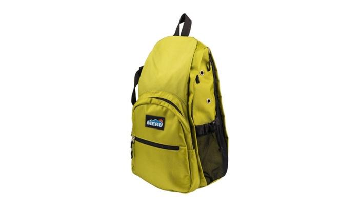 057b66f12e MERU Yoga Sling Backpack - Waterproof Crossbody Bag